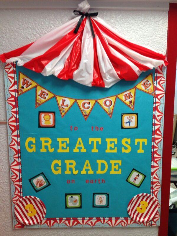 circus classroom door