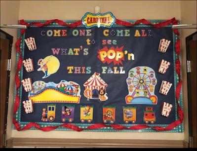 carnival classroom bulletin board