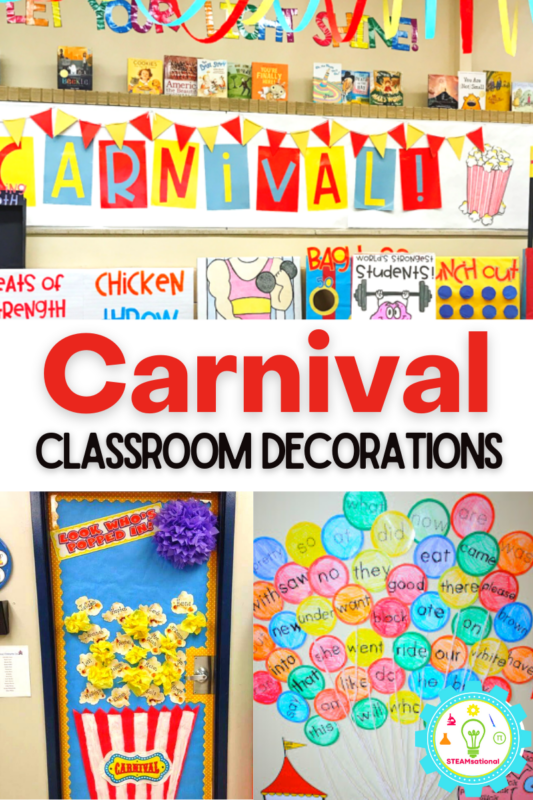 These carnival classroom decorations will set your class apart and make your students excited to learn!