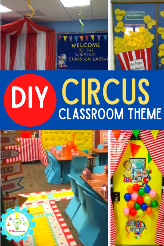 hen it comes to classroom decorations and classroom door decorations, fun themes can really help inspire students to learn and help get them excited about school (no matter what time of year it is). This year, why not transform your classroom into a circus by implementing some of these circus theme classroom ideas!