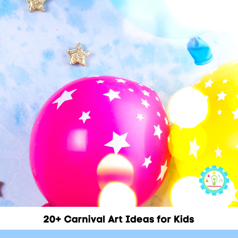 Whether you are celebrating National Carnival Day or you are just looking for some carnival fun to do right in your own home, these carnival art ideas are perfect!