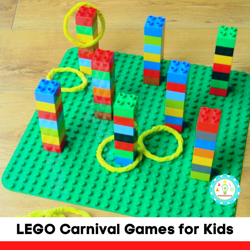 LEGO carnival activities can be made with everyday bricks and kids can help engineer them on their own.