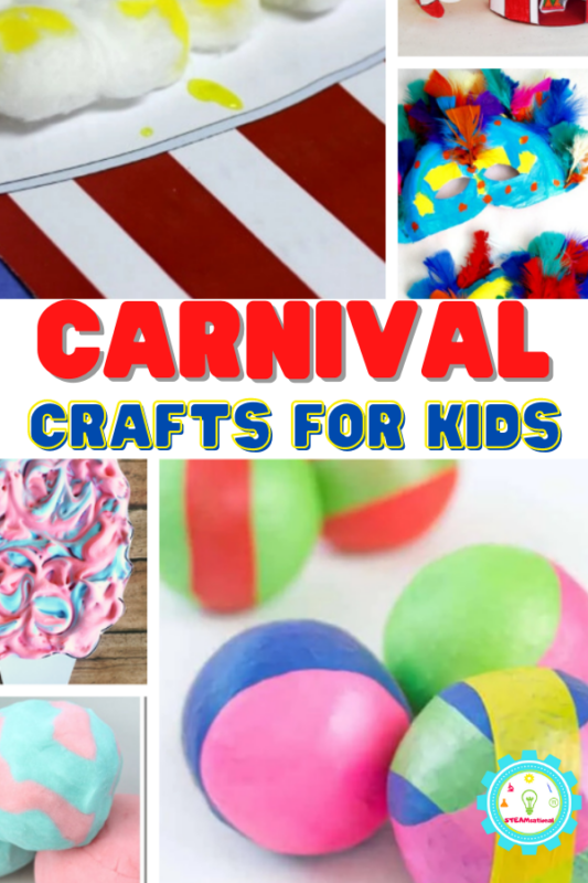Over 20 fun carnival art ideas for kids! Cotton candy, roller coasters, and more! So many fun carnival art themes that will inspire a love of art!