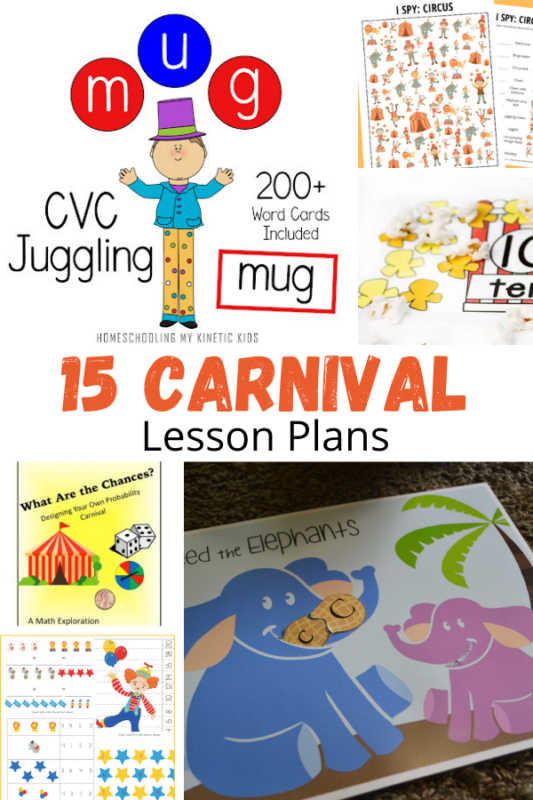 Over 20 fun carnival lesson plans for kids! Bring some fun back into the classroom with these elementary carnival lesson plan ideas!