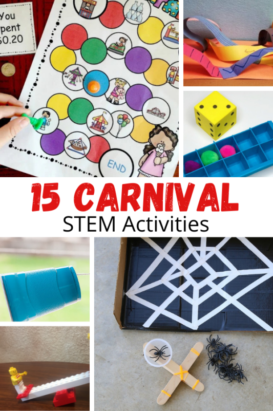 The carnival is so much fun! These carnival STEM projects for kids will bring some science to the carnival and state fair.