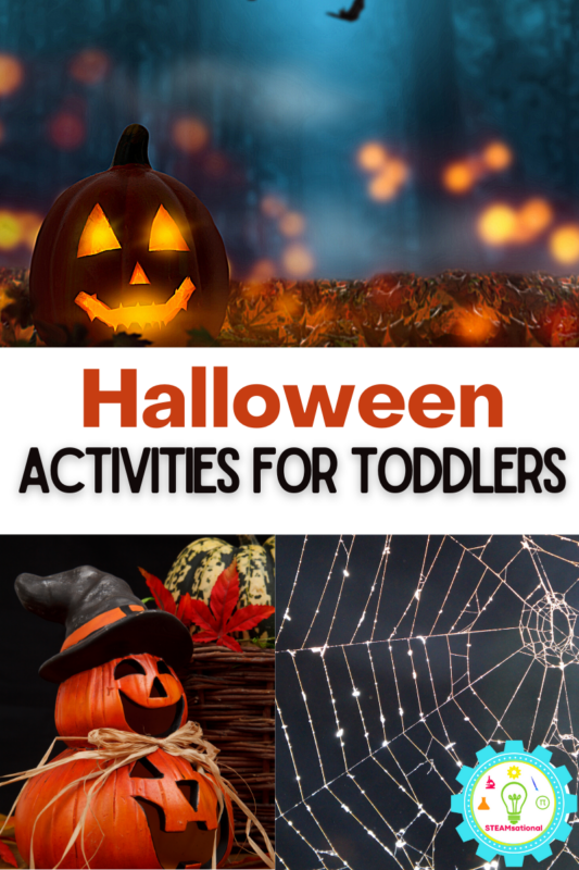 Over 20 exciting and hands-on Halloween activities for toddlers, all with a fun STEM twist! Engaging and fun themes from bugs to ghosts!