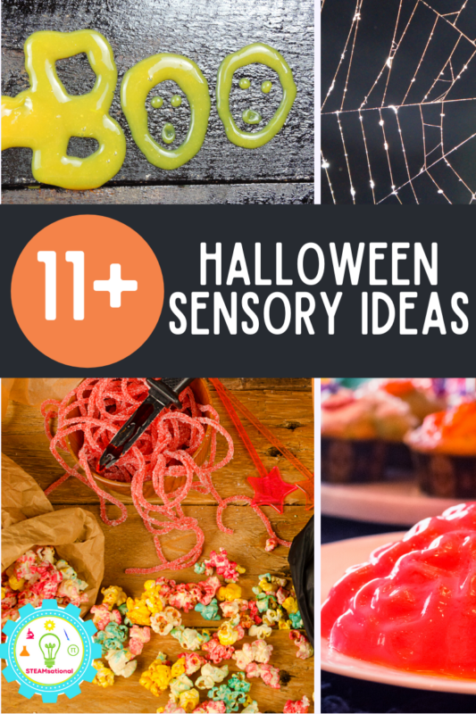 Get spooky and gross with these Halloween sensory ideas for kids! 20+ fun ways to get a little gross this Halloween.
