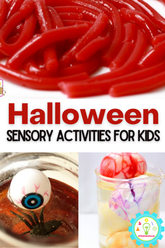 hether you are exploring the senses with kids in the classroom, making memories with your kids at home, or scaring the neighborhood children with a spooky and gross Halloween sensory experience at a party, you'll find our very favorite Halloween sensory activities right here!
