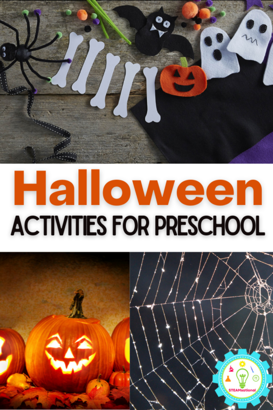 Exciting and hands-on Halloween activities for preschoolers! Preschool-friendly Halloween activities perfect for the classroom or Halloween parties!