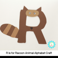 arn how to make a fun R is for racoon alphabet craft with these simple instructions! All you need are a few craft supplies and a bit of imagination!