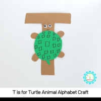 to make a fun T is for turtle alphabet craft with these simple instructions! All you need are a few craft supplies and a bit of imagination!