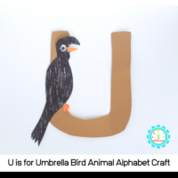 Learn how to make a fun U is for umbrella bird alphabet craft with these simple instructions! All you need are a few craft supplies and a bit of imagination!