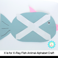 Learn how to make this X is for X-ray fish letter craft using just a simple template and a few basic craft supplies. Kids will love transforming the letter X into an X-ray fish!