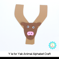 Learn how to make a fun Y is for yak alphabet craft with these simple instructions! All you need are a few craft supplies and a bit of imagination!